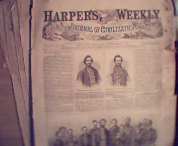 HarpersWeekly- 9/23/1895 Military Execution,Boston Hall