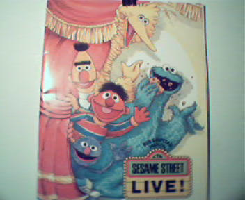 Seasame Street Live Program and Songbook c1985