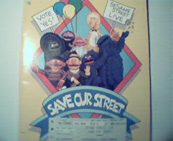 Seasame Street Live Program and Songbook c1987