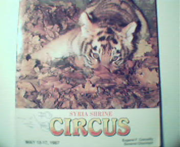 Circus of Syria Shrine from 1987! Color Cover of Tiger!