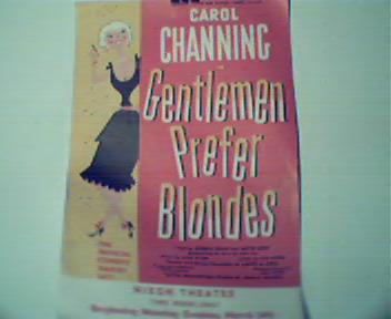 Carol Channing in Gentleman Prefer Blondes! c1950s!