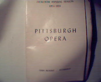 PittsburghOpera 1954-55 Season! Aida Cast!