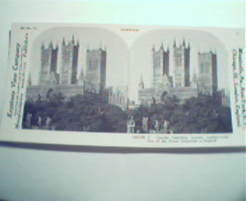 1970 Repro Card 1800-1900s- Lincoln Cath. in England!