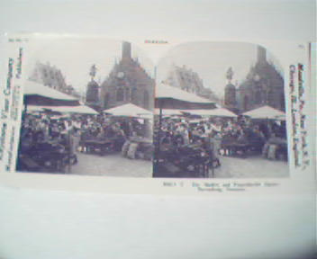 1970 Repro 1800-1900s- Market in Nuremburg,Germany!