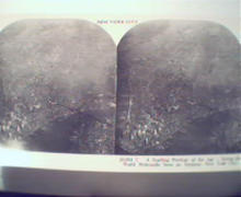 1970 Repro 1800-1900s- New York-Aerial View of Manhtn!