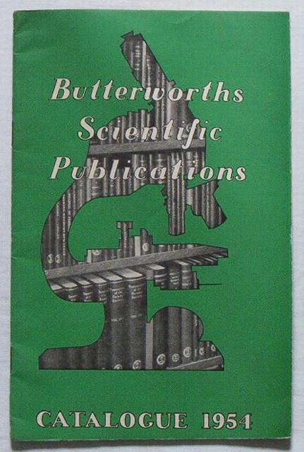 1954 Butterworths Scientific Publications/Books Catalog