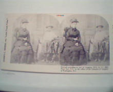 1970 Repro 1800-1900s- Woman sitting with Boy & Fish!