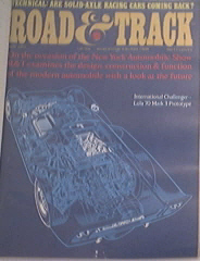 Road & Track 5/67 International Challenger Lola 70 Mark