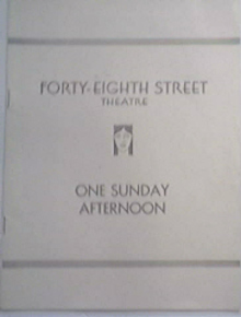 48th Street Theatre Program 'One Sunday Afternoon'