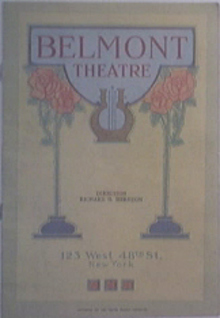 11/16/1925 Belmont Theatre Program ' YOUNG WOODLEY '