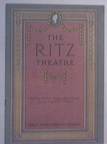 RITZ Theatre Program ' The Man With a Load of Mischief