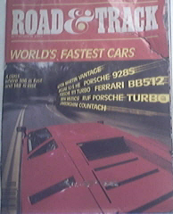 Road & Track 9/1984 Fastest Cars In The World issue