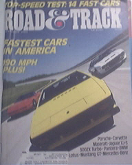 Road & Track, 9/1985, Fastes Cars In America,