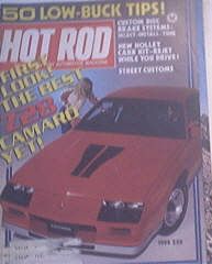Hot Rod, 12/1981, 1982 Z28, Holley Carb Kit, Street Cus