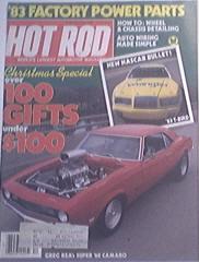 Hot Rod, 12/1982, NASCAR 83'T-Bird , Super 1968 Camaro