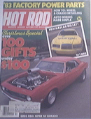 Hot Rod, 12/1982, NASCAR 83'T-Bird , Super 1968 Camaro