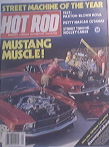 Hot Rod, 4/1983, RICHARD PETTY, Blue NOVA Sleeper