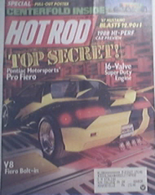 Hot Rod, 10/1987, 1978 Malibu, Turbocharged V8 '84 Must