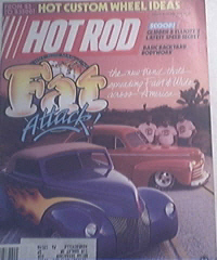HOT ROD, 7/1985, Hot Custom Wheel Ideas, FAT Attack