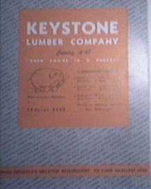 c1950 KEYSTONE Lumber Company Catalog A-48