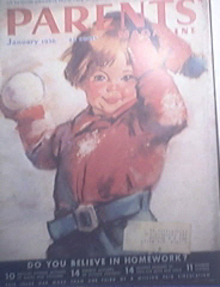 Parents Magazine 1/1936 Do You Believe In Homework?