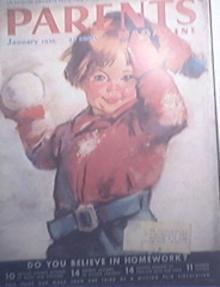 Parents Magazine 1/1936 Do You Believe In Homework?