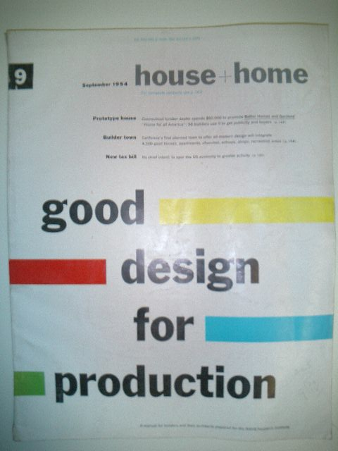 House + Home September 1954 Design for Production