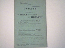 DEBATE, c1920  Subject