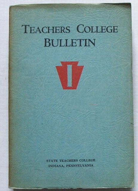 Indiana State Teachers College Bulletin/Catalog,1930-31