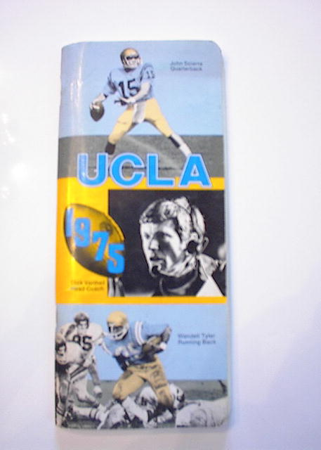 1975 UCLA SCHEDULE  DICK VERMELL HEAD COACH