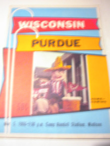 NOV 5,166 PROGRAM PURDUE vs WISCONSIN
