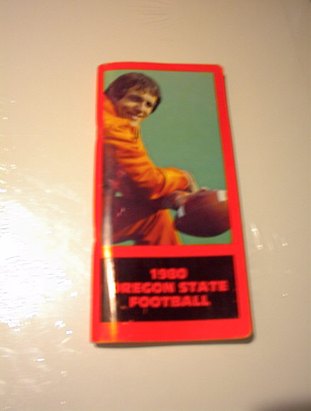 1980 OREGON STATE FOOTBALL GUIDE