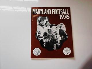 1976 MARYLAND FOOTBALL GUIDE        NICE L@@K