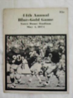 MAY 4,1974 44th ANNUAL BLUE-GOLD GAME PROGRAM