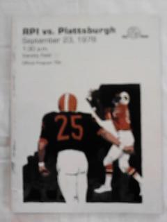 SEPT 23,1978 RPI vs PLATTSBURGH PROGRAM