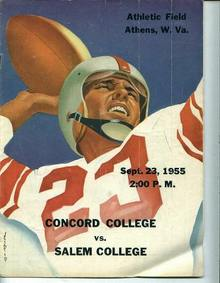 Program, Concord Col. vs. Salem Col., 9/23/55
