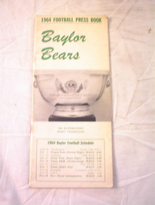 1964 BAYLOR BEARS PRESS BOOK