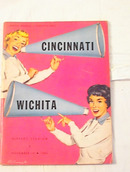 Nov,1956 Cincinnati vs Wichita Program