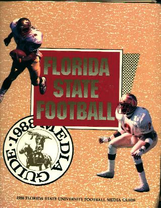 FSU  Football Media Guide from 1988!