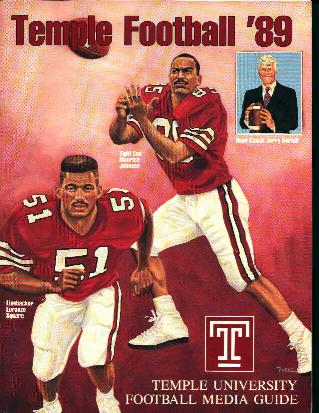 Temple Football Media Guide 1989!