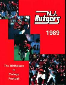 Rutgers Football Media Guide 1989!