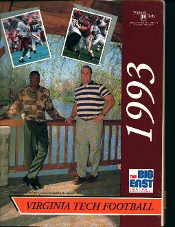 Virginia Tech Football Media Guide for 93'