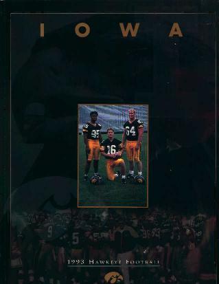 University of Iowa 1993 Media Guide