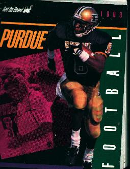 Purdue 1993 Media Guide for Football!