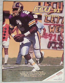Official Program-E.Carolina vs Pitt, 10/26/91