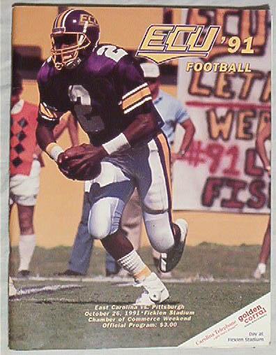 Official Program-E.Carolina vs Pitt, 10/26/91