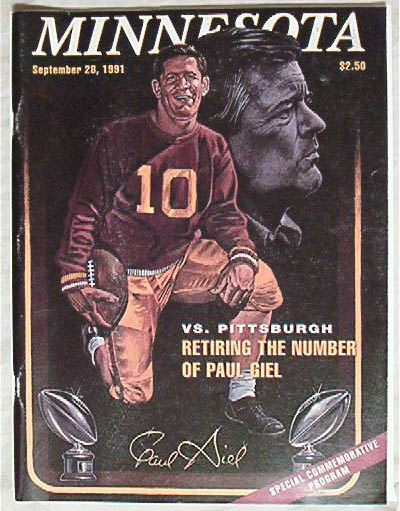 Official Program-Minnesota vs. Pitt 9/28/91