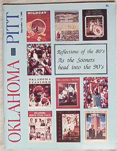 Official Program - Oklahoma. v. Pitt 9/15/90
