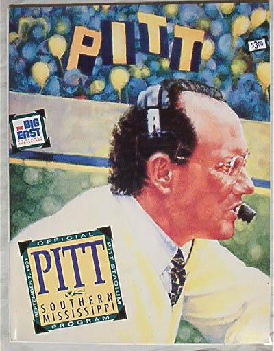 Official Program-Pitt v.So.Mississippi 9/7/91