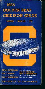 1965 UC Golden Bear Gridiron Media Guide
